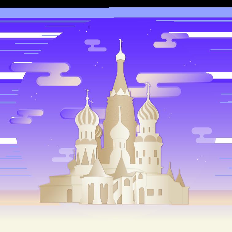 Illustration representing Russia