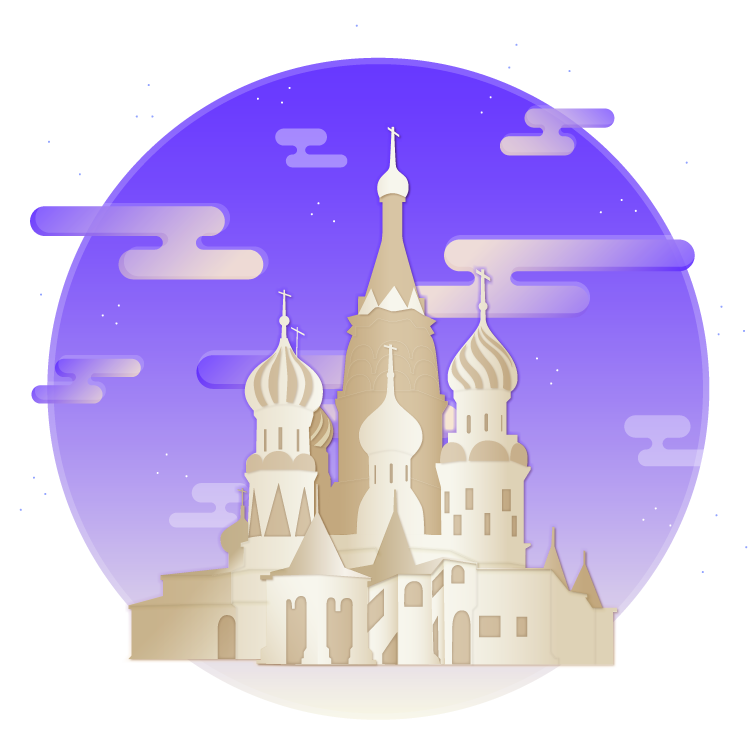 Illustration representing Russia